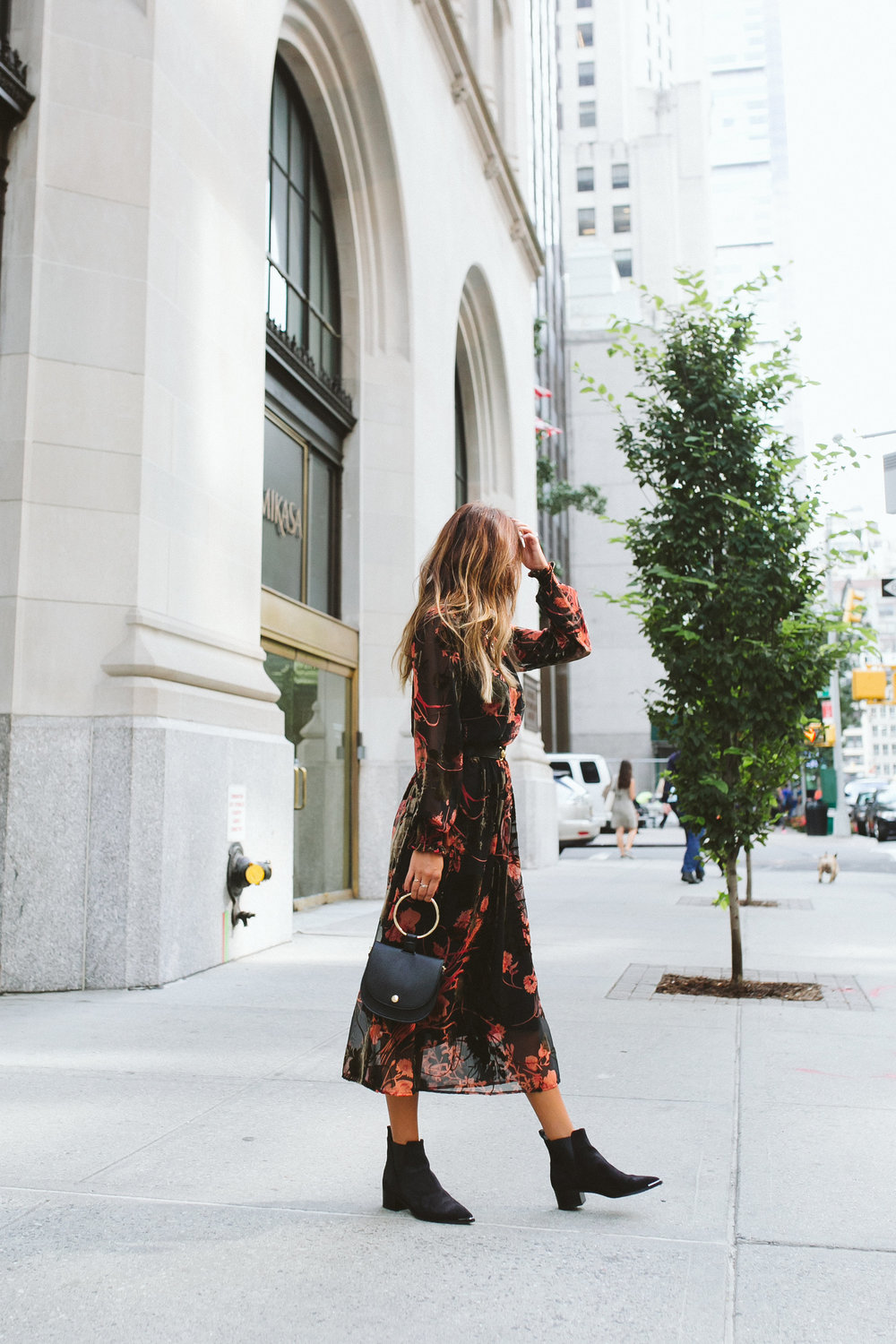 how to pair booties with dress for fall, fall style inspo, everyday pursuits in New York