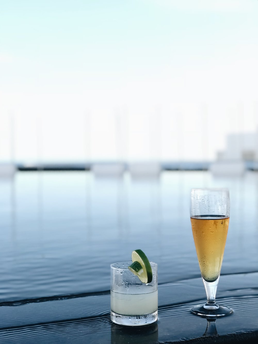 Where to stay in Los Cabos - drinks by the pool at Mar Adentro