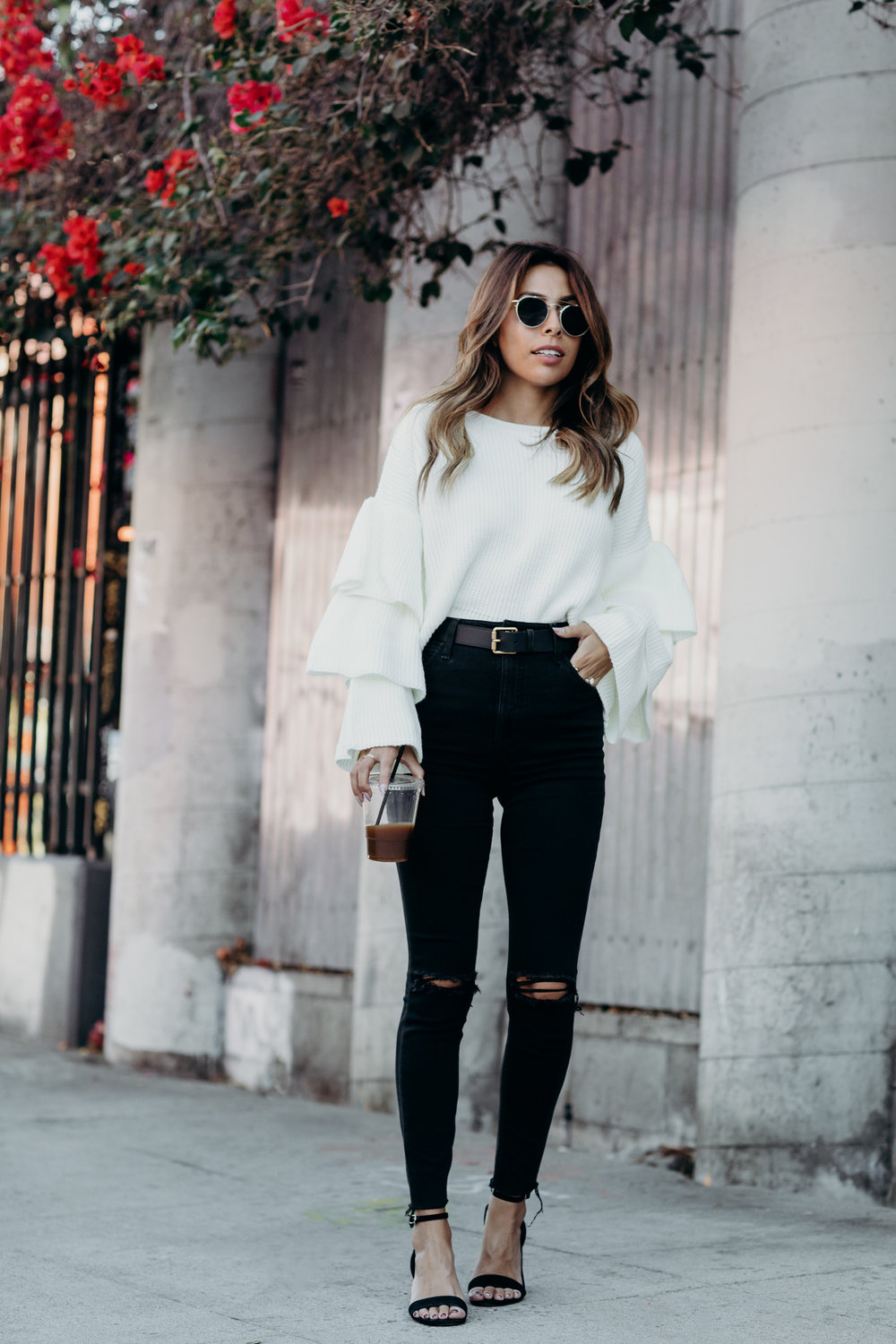 Casual fall Southern California Style, Everyday Pursuits jeans and sweater look