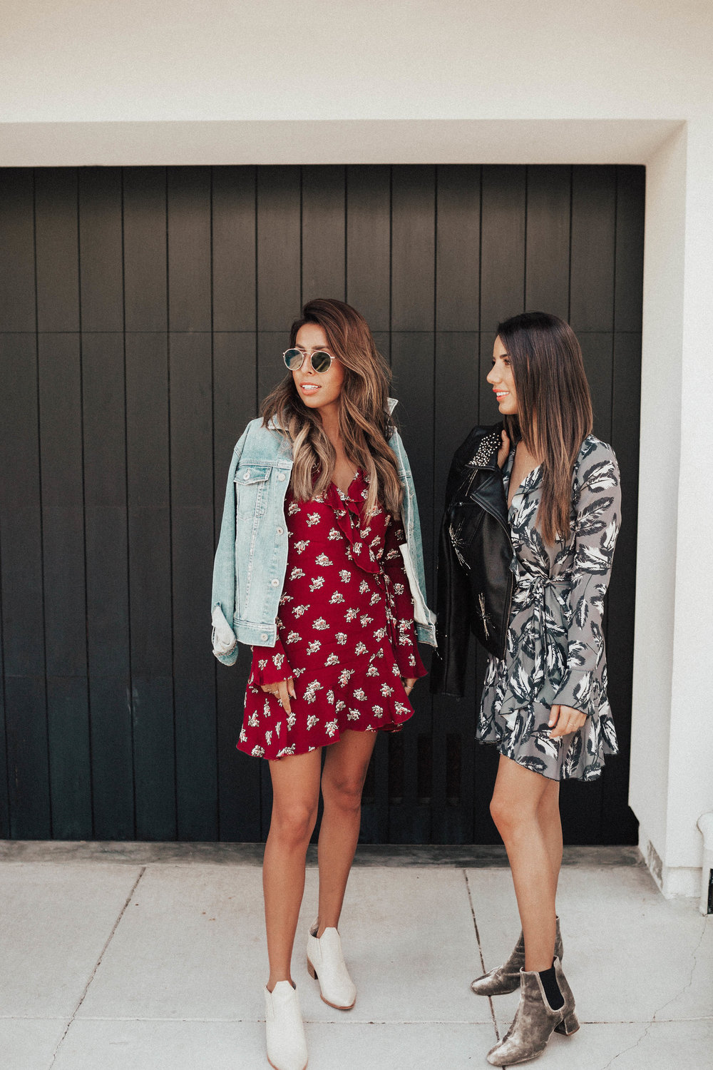 how to wear fall booties with dresses, San Francisco Style, Everyday Pursuits and Ariana Lauren