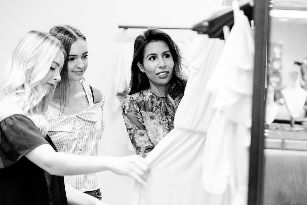 Bridesmaid dress shopping at Nordstrom
