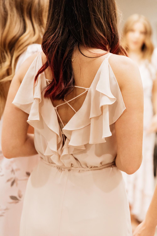 Back details on WAYF Bridesmaid Dress