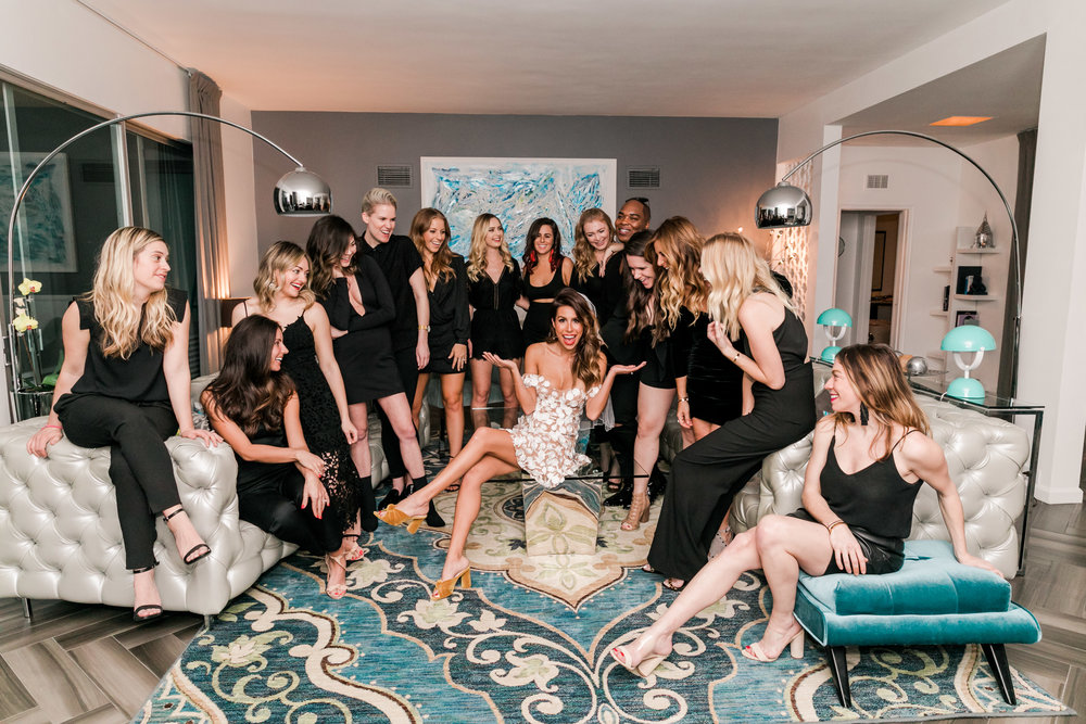 Everyday Pursuits Palm Springs Bachelorette: bride wears white