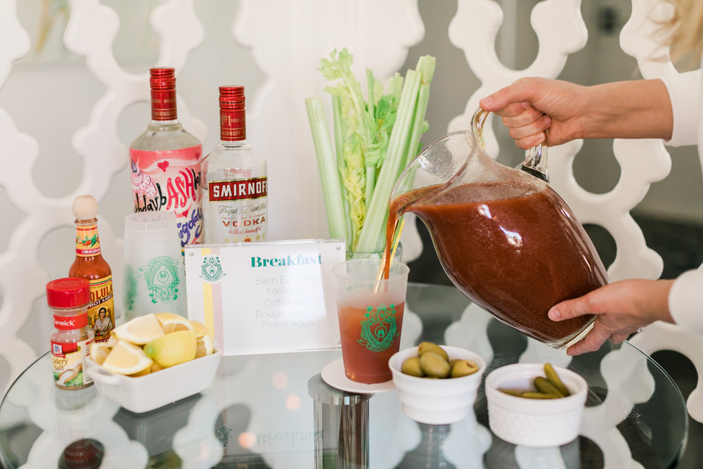 Smirnoff Bloody Mary Bar - Bachelorette Party