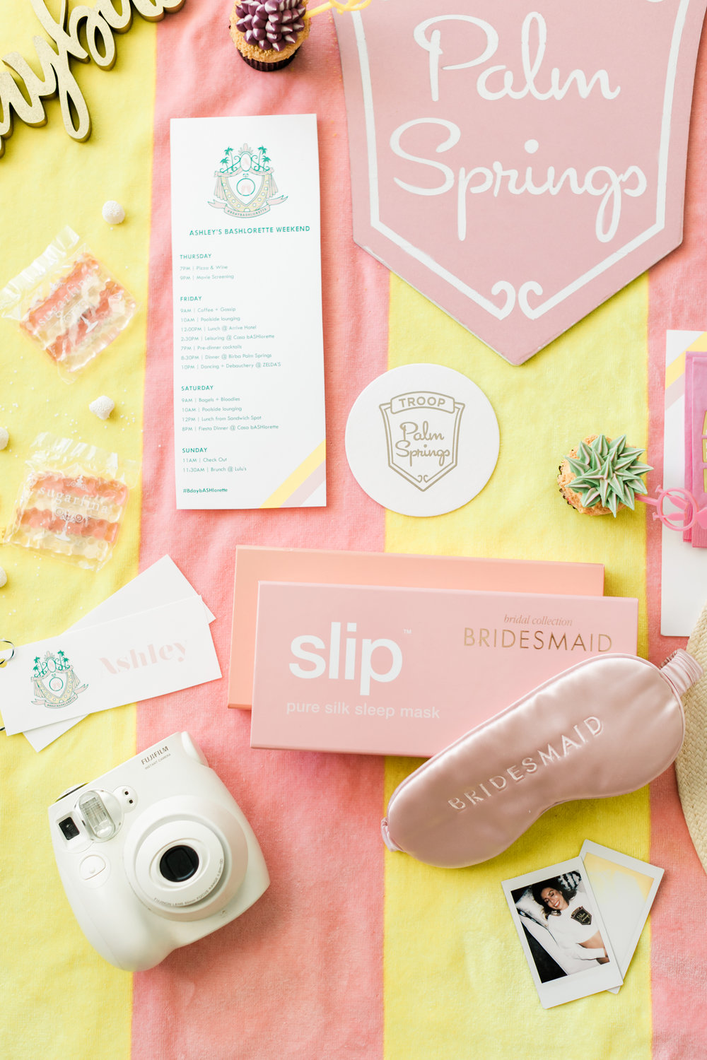 Bachelorette Theme Idea: Palm Springs Chic with Beverly Hills Hotel Twist