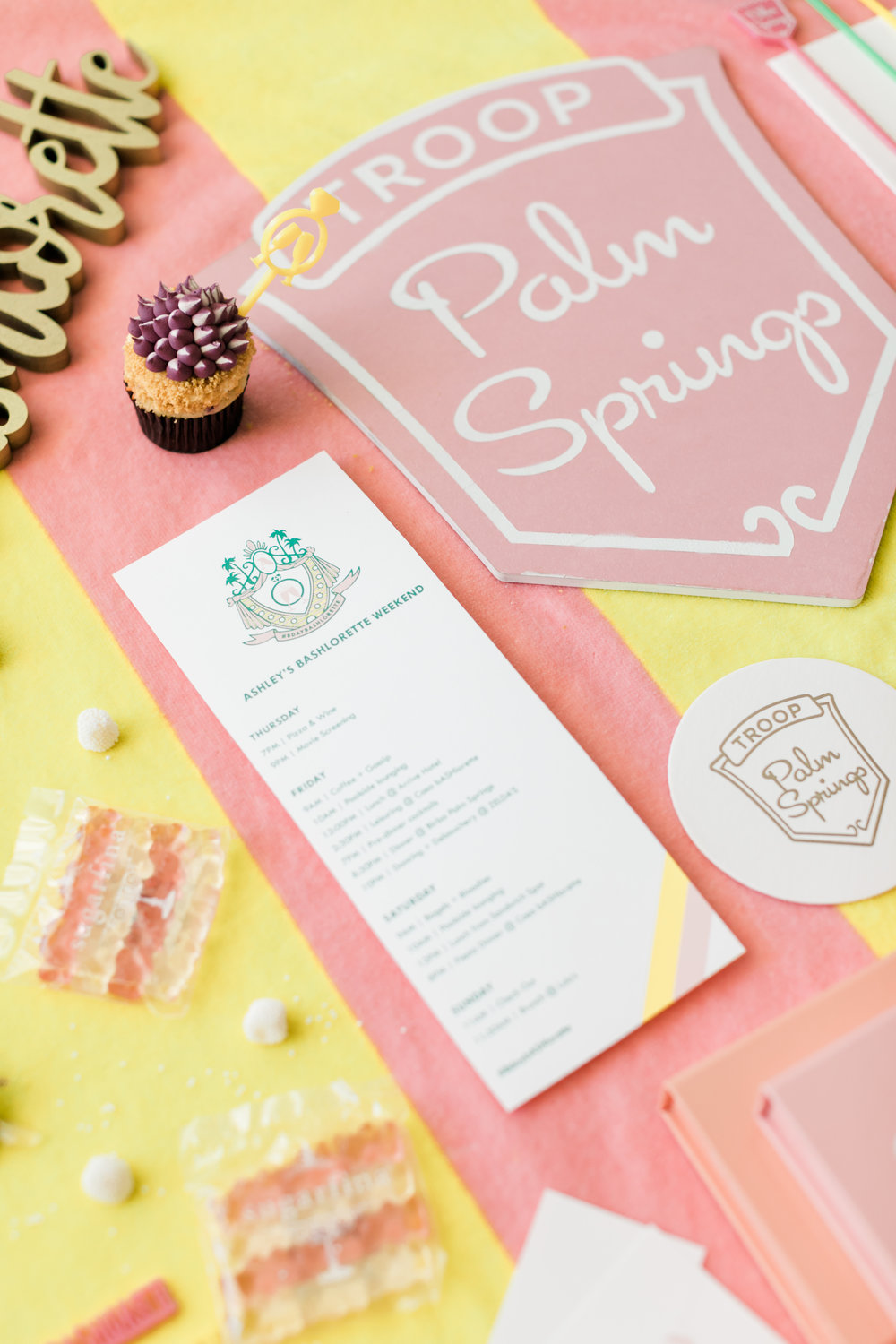 Custom Palm Springs Bachelorette Decor - Everyday Pursuits