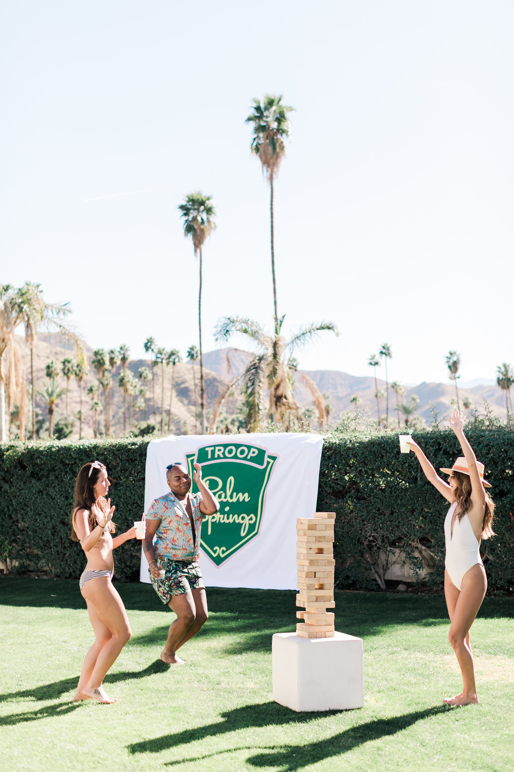 Joymode Giant Jenga Game + Society 6 Tapestry - Bachelorette Party