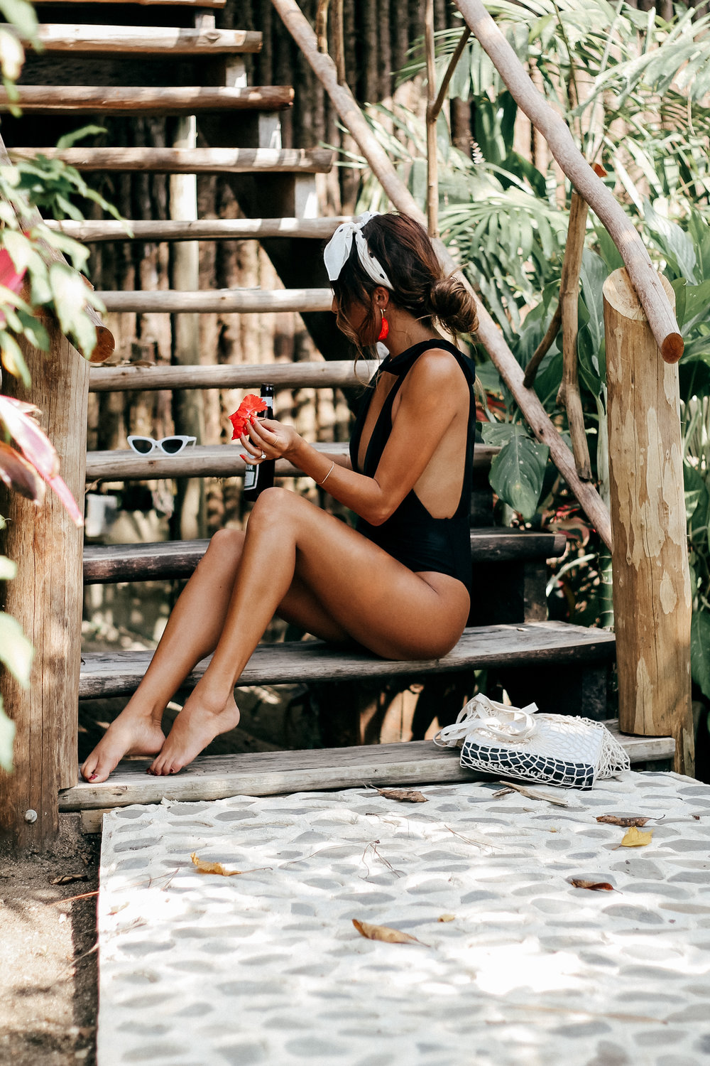 the perfect black one piece: aerie tie swimsuit | what to wear in Belize