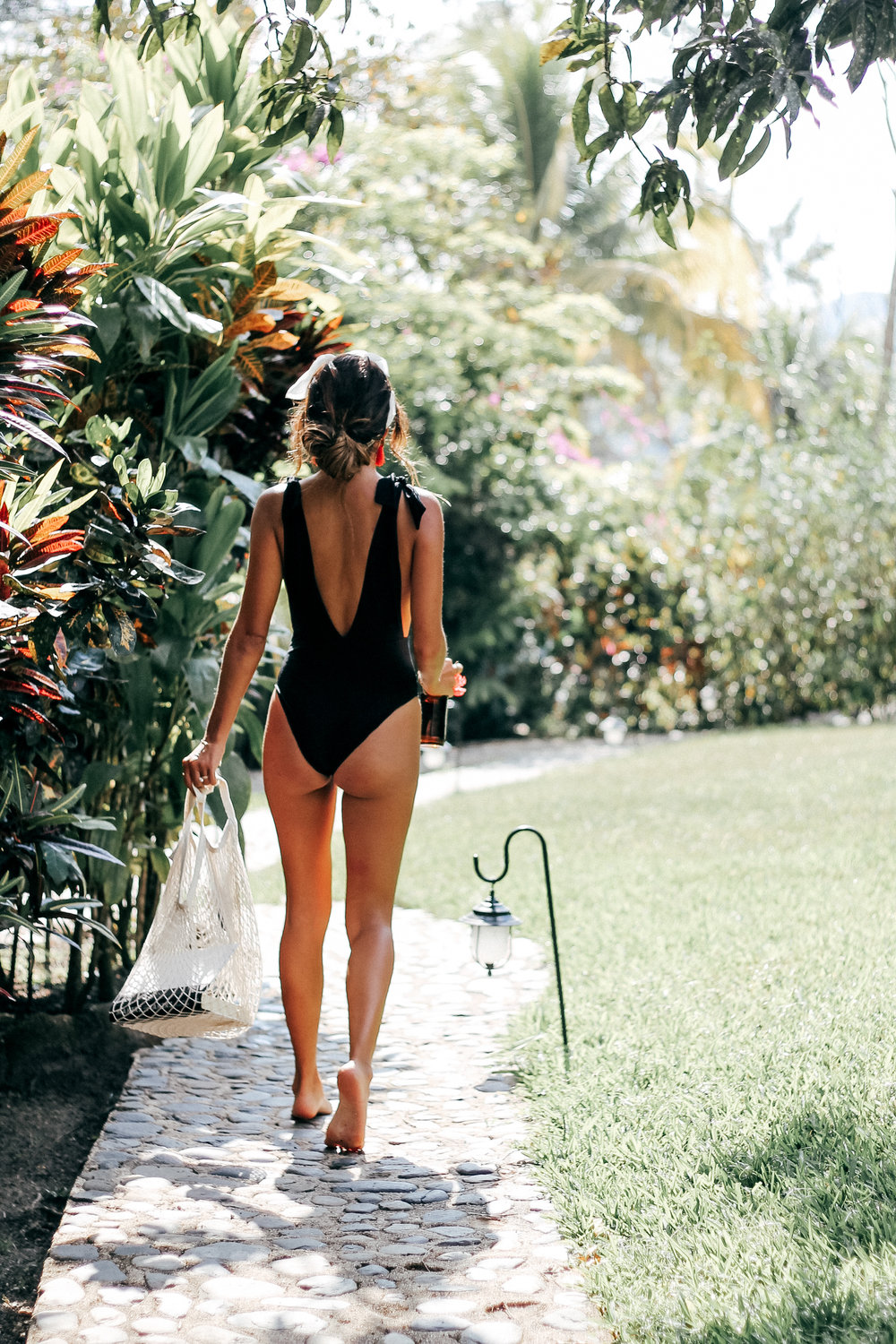 95c57cd054f the perfect black one piece: aerie tie swimsuit | what to wear in Belize