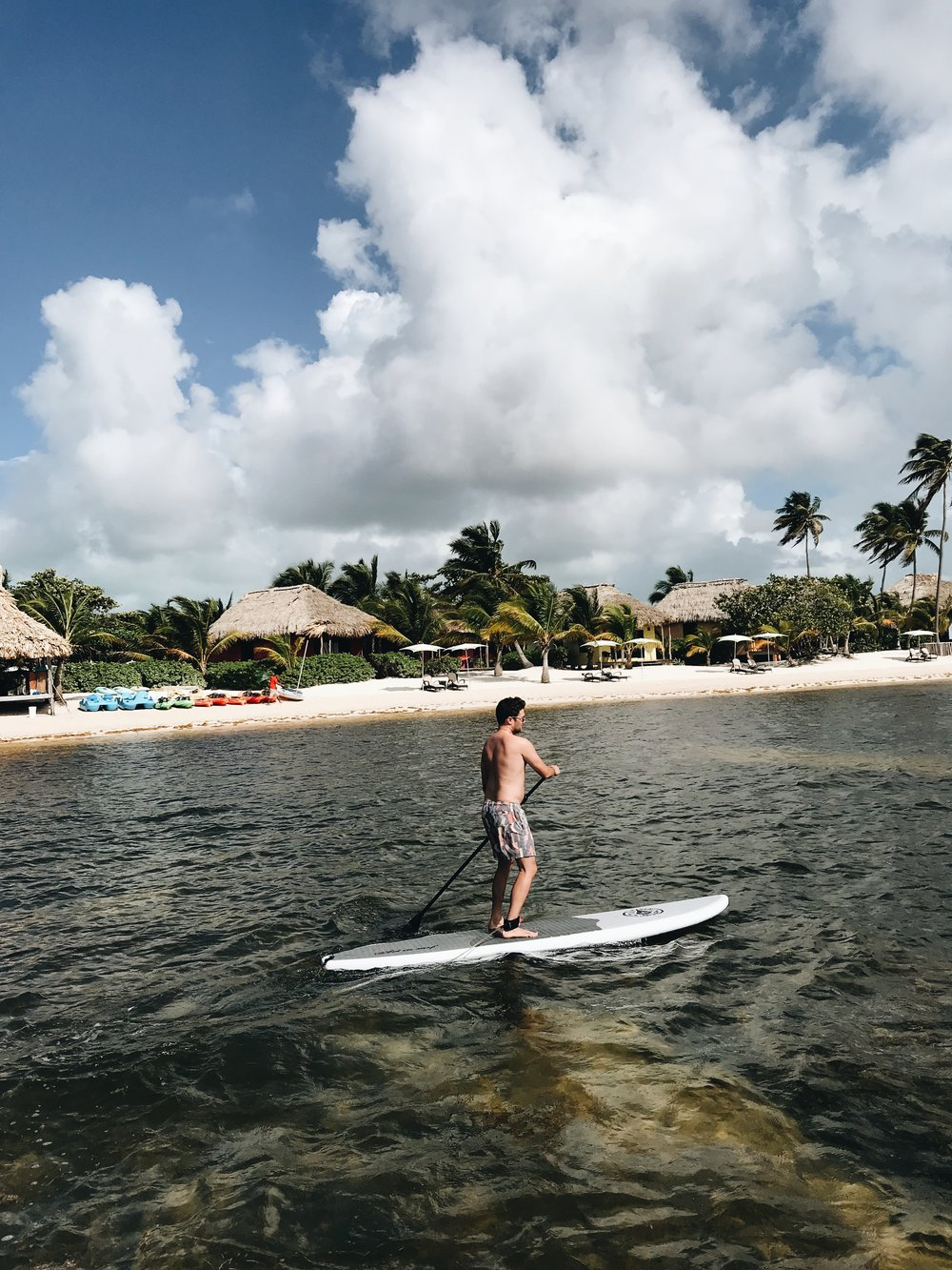 Paddle Boarding at Matachica Resort, Belize