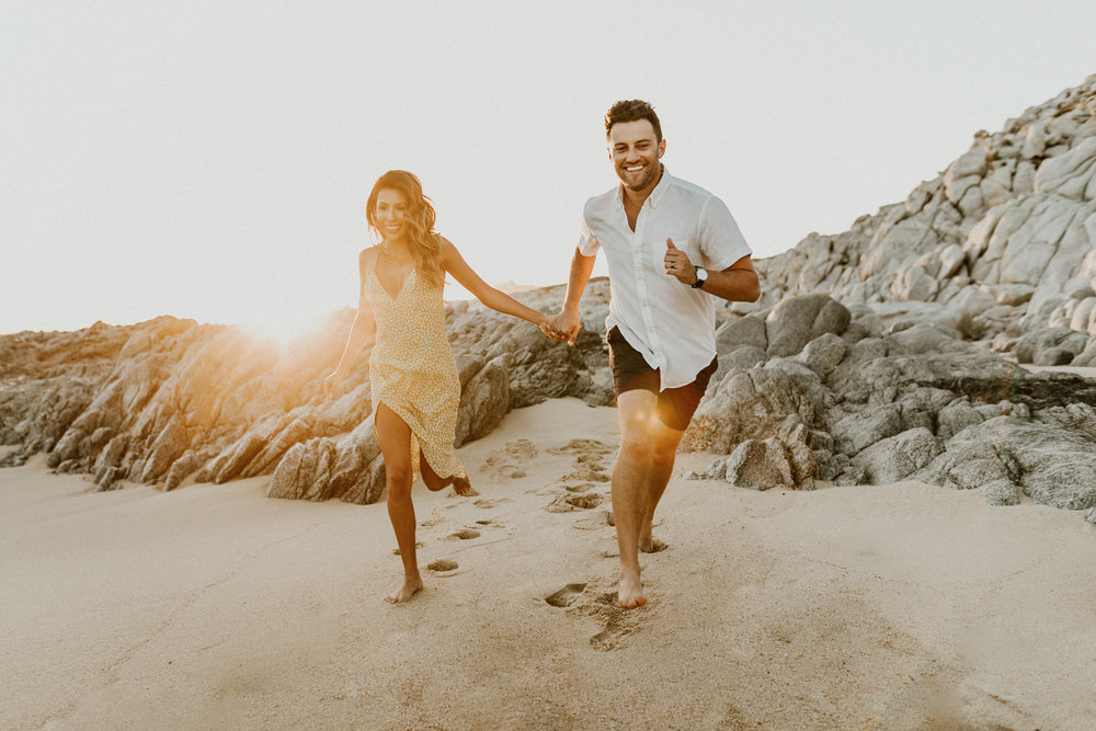 Beach Engagement Photos in Los Cabos, Mexico | Ashley Torres, Everyday Pursuits