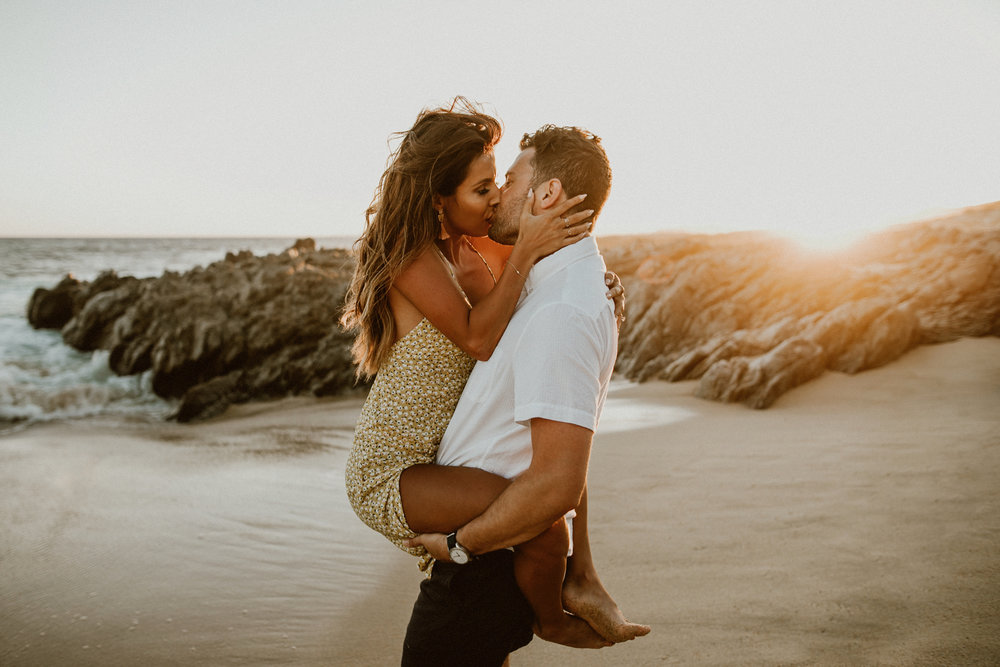 Sexy beach engagement photoshoot ideas by Everyday Pursuits - Los Cabos, Mexico