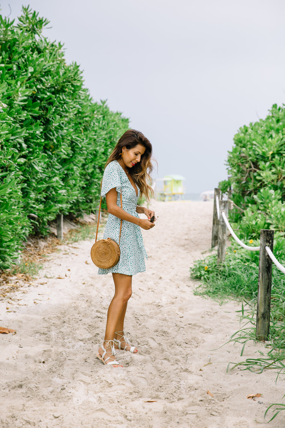 Endless Summer Wrap Dress on Ashley of Everyday Pursuits - Miami Travel Guide