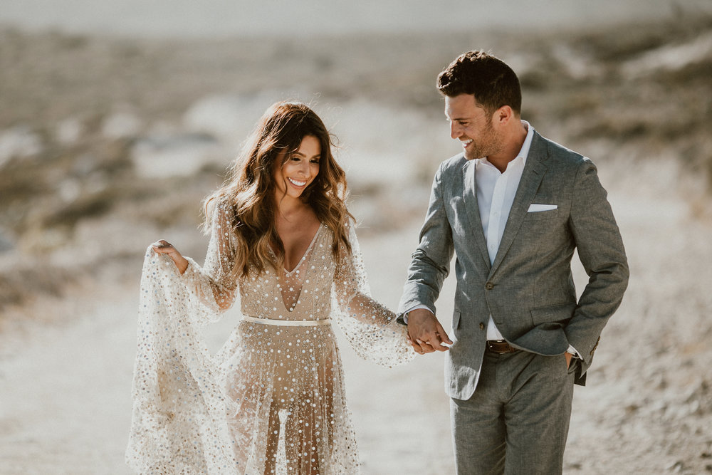 Ashley + Andy Post Wedding Shoot in Los Cabos, Mexico in Nala dress by One Day Bridal