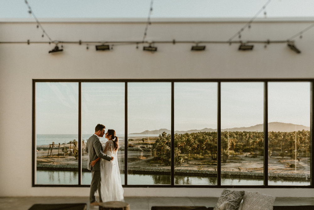 A special moment overlooking the Baja coast line from El Ganzo Hotel rooftop.
