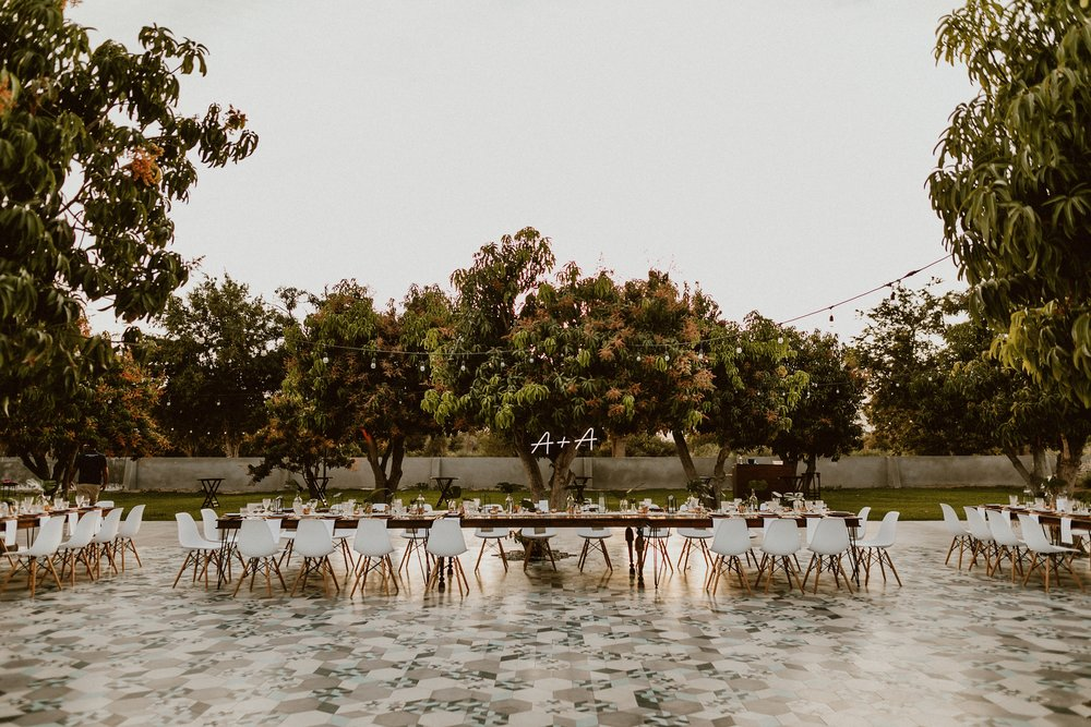 ACRE Baja Wedding Mango Grove Set-Up - Everyday Pursuits