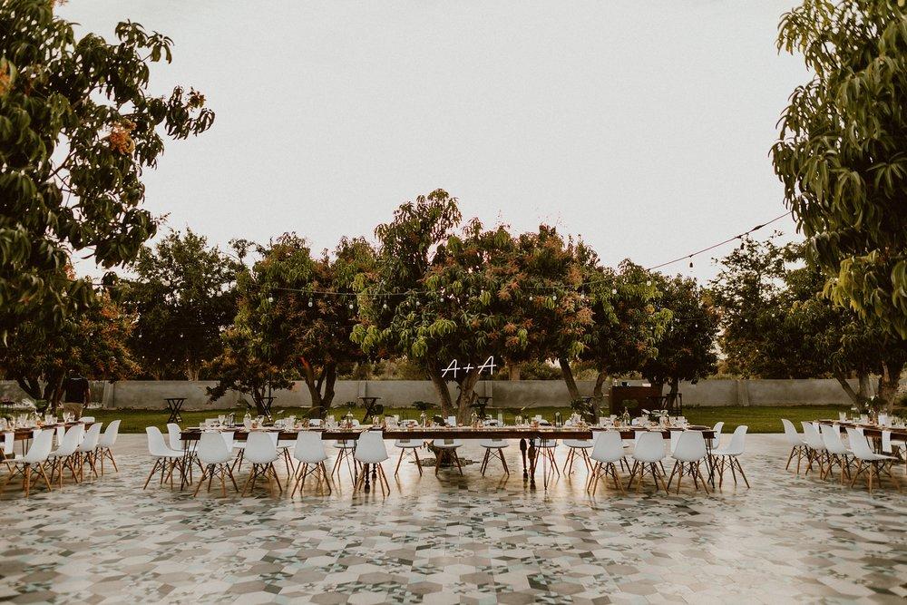 ACRE Baja Wedding Mango Grove Set-Up - Everyday Pursuits