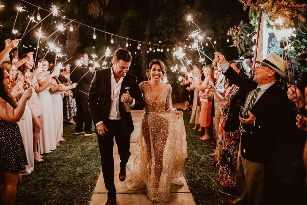 Sparklers at Everyday Pursuit Wedding - ACRE Baja