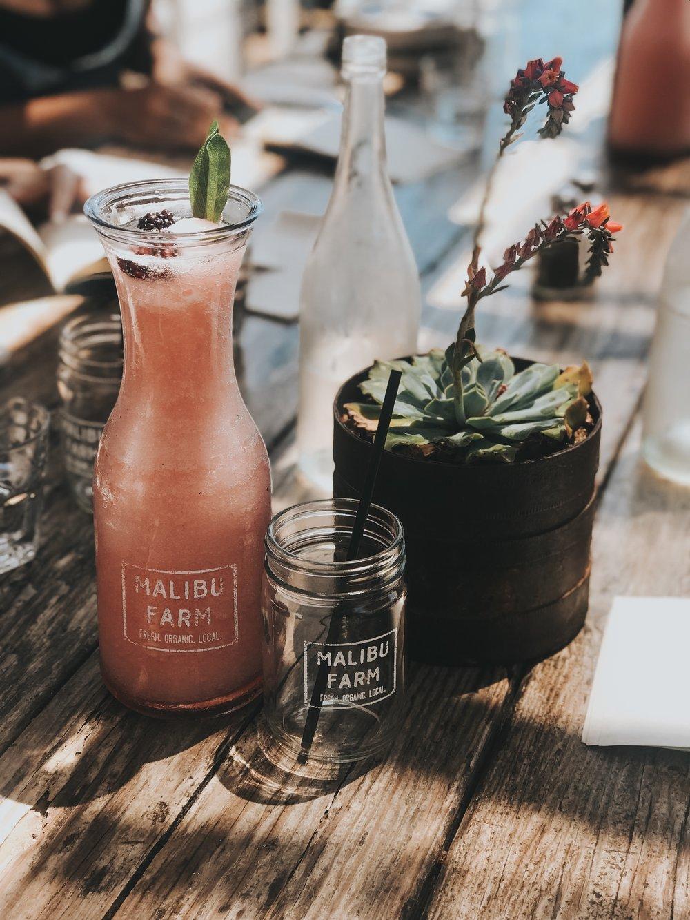 Where to eat in Malibu: Malibu Farm - Frozen Rose