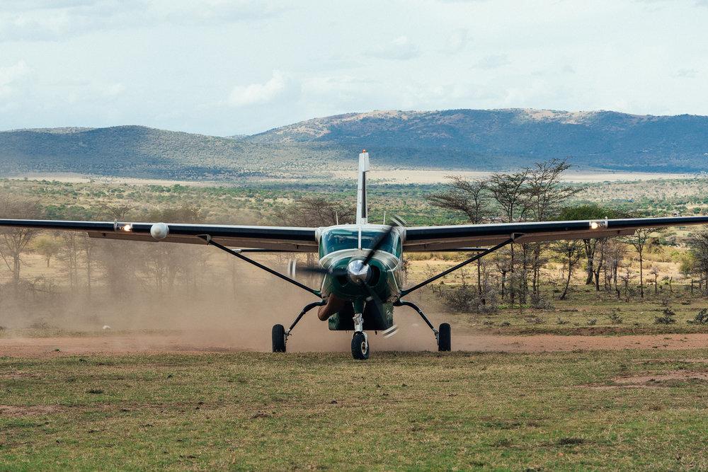 Nairobi to Cottars 1020 Safari Camp Air Strip in Kenya ph by Dave Krugman