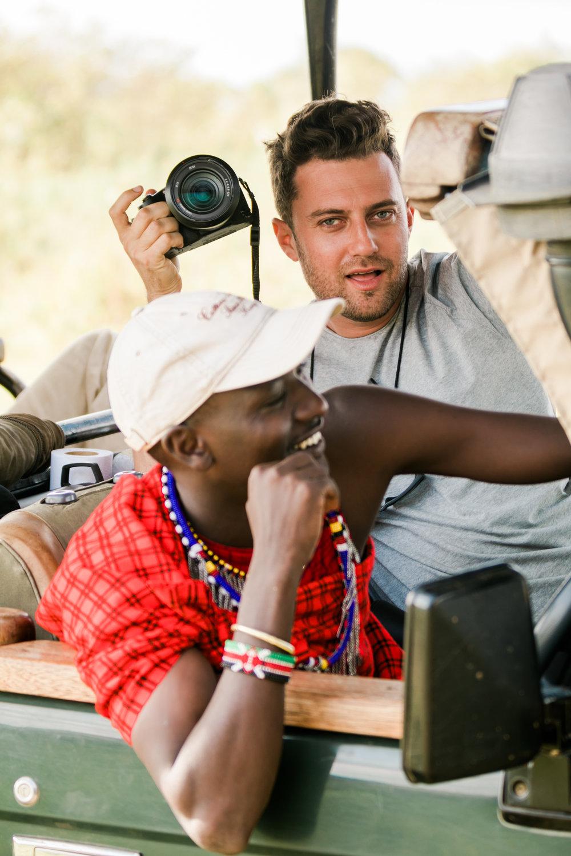 Andy Fisher using SONY RX10 Kenya Safari Ph. Valorie Darling