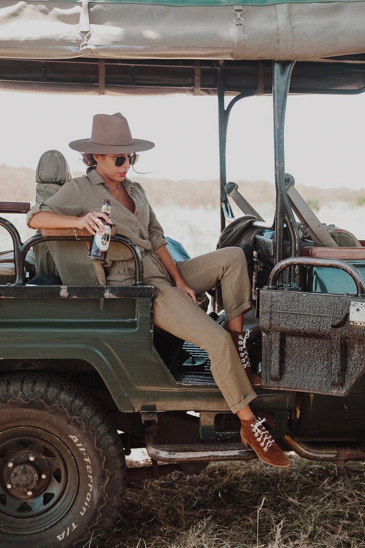 Ashley Torres - What to wear on Safari in Kenya. Ph Valorie Darling