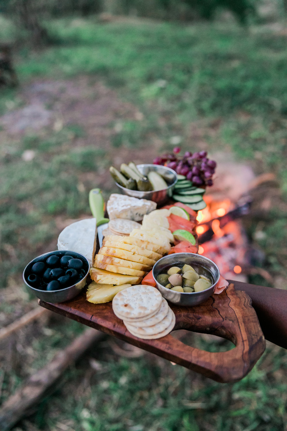 Cheese Platter at Fly Camp Ph. Valorie Darling