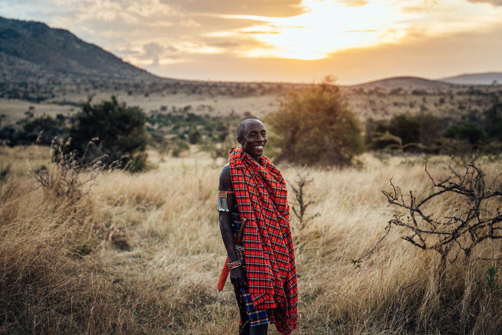 Wilson Maasai Guide at Cottars 1920s Camp Ph. Dave Krugman