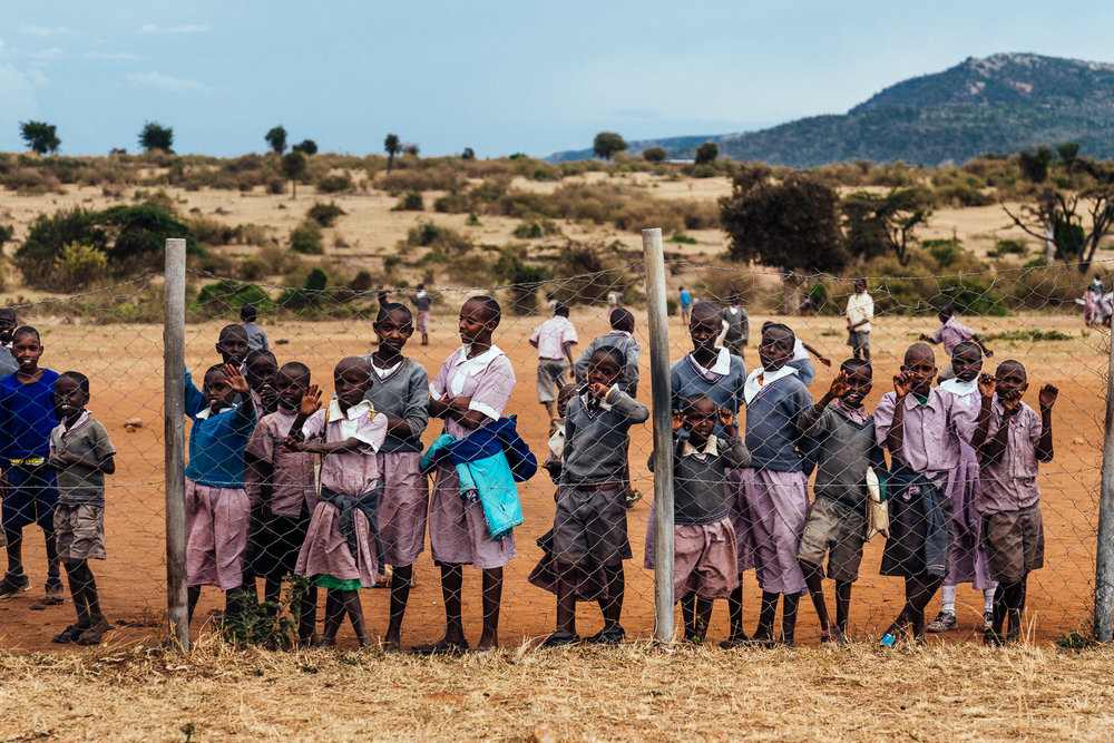 School Kids at Maasai Mara School Ph Dave Krugman