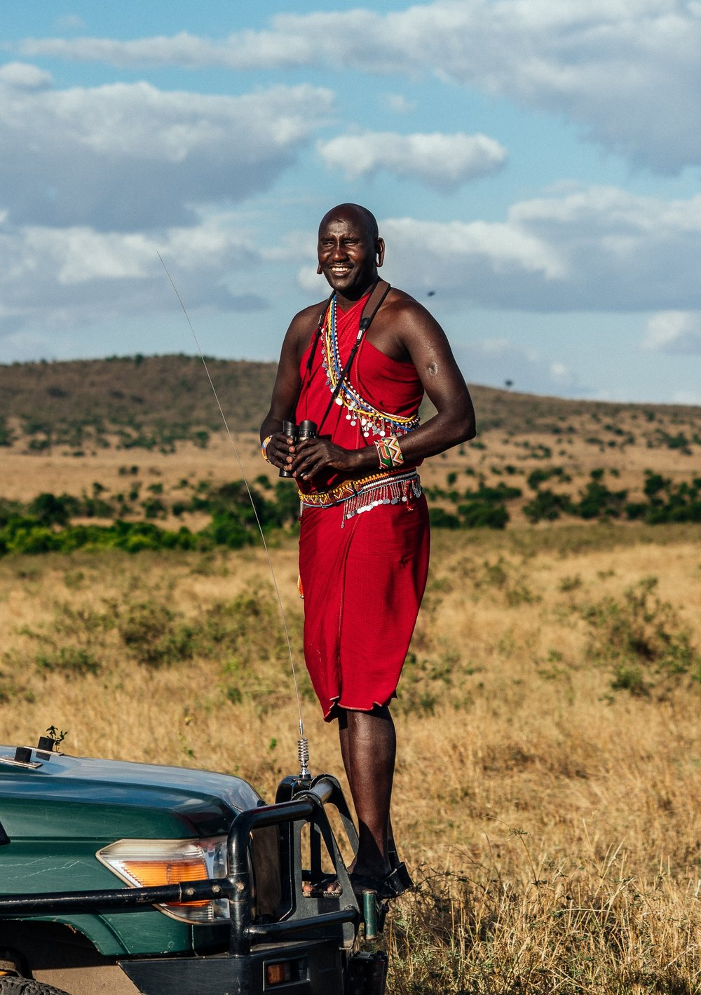 Matura - Maasai Guide at Cottras 1920s Safari Camp Ph. Dave Krugman