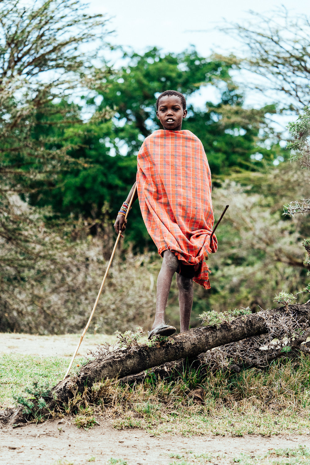 Maasai Boy out in the Mara Ph. Dave Krugman