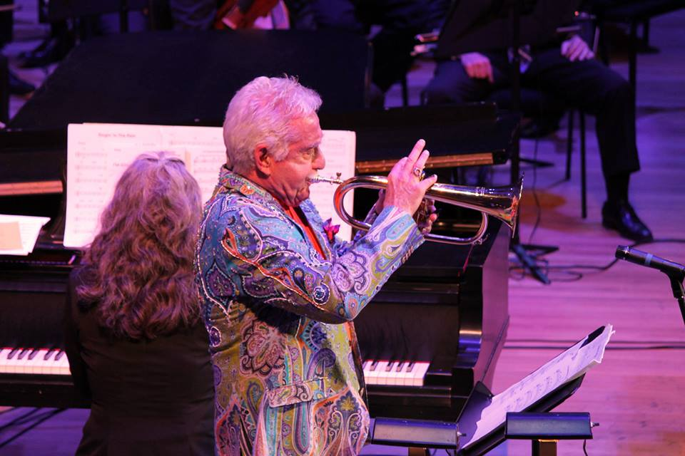 Pianist Mary Louise Knutson and trumpeter Doc Severinsen, Orchestra Hall, Minneapolis, MN.