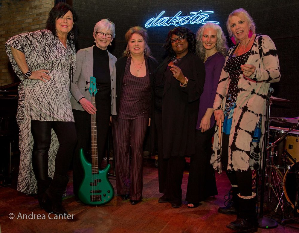 Patty Peterson's Jazz Women All Stars - Patty Peterson (v), Joan Griffith (b), Kathy Jensen (s), Ginger Commodore (v), Mary Louise Knutson (p), and Jendeen Forberg (d), Dakota Jazz Club, Minneapolis, MN.