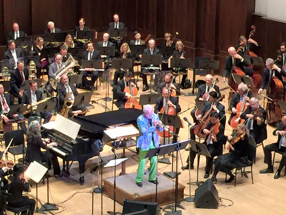 Pianist Mary Louise Knutson with Doc Severinsen and the Detroit Symphony.