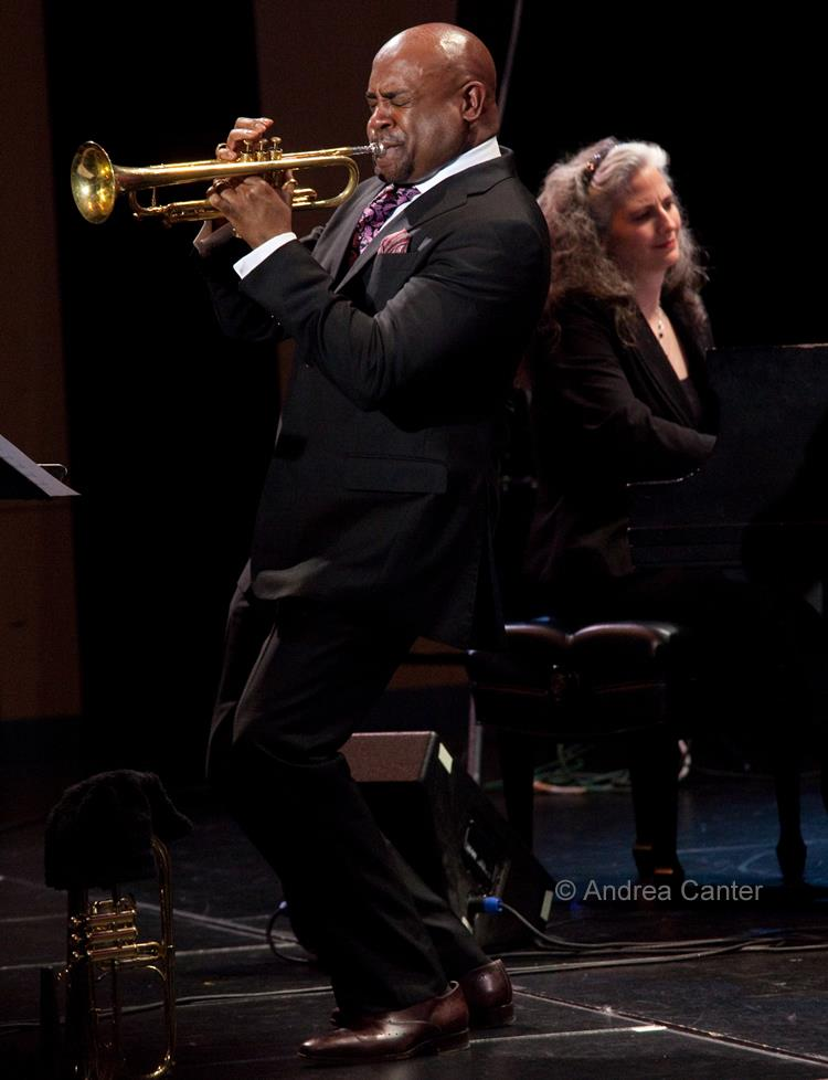Pianist Mary Louise Knutson with trumpeter Terell Stafford, Minneapolis, MN.