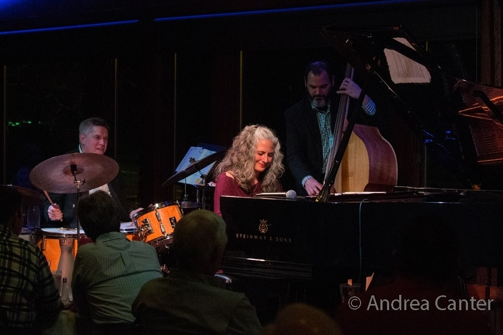 Mary Louise Knutson Trio, Dunsmore Room at Crooners, Minneapolis, MN. Phil Hey (d), Mary Louise Knutson (p), and Chris Bates (b).