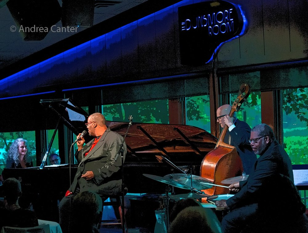 Mary Louise Knutson (p), Kevin Mahogany (v), Gordon Johnson (b), and Bobby Commodore (d), Dunsmore Room at Crooners, Minneapolis, MN.