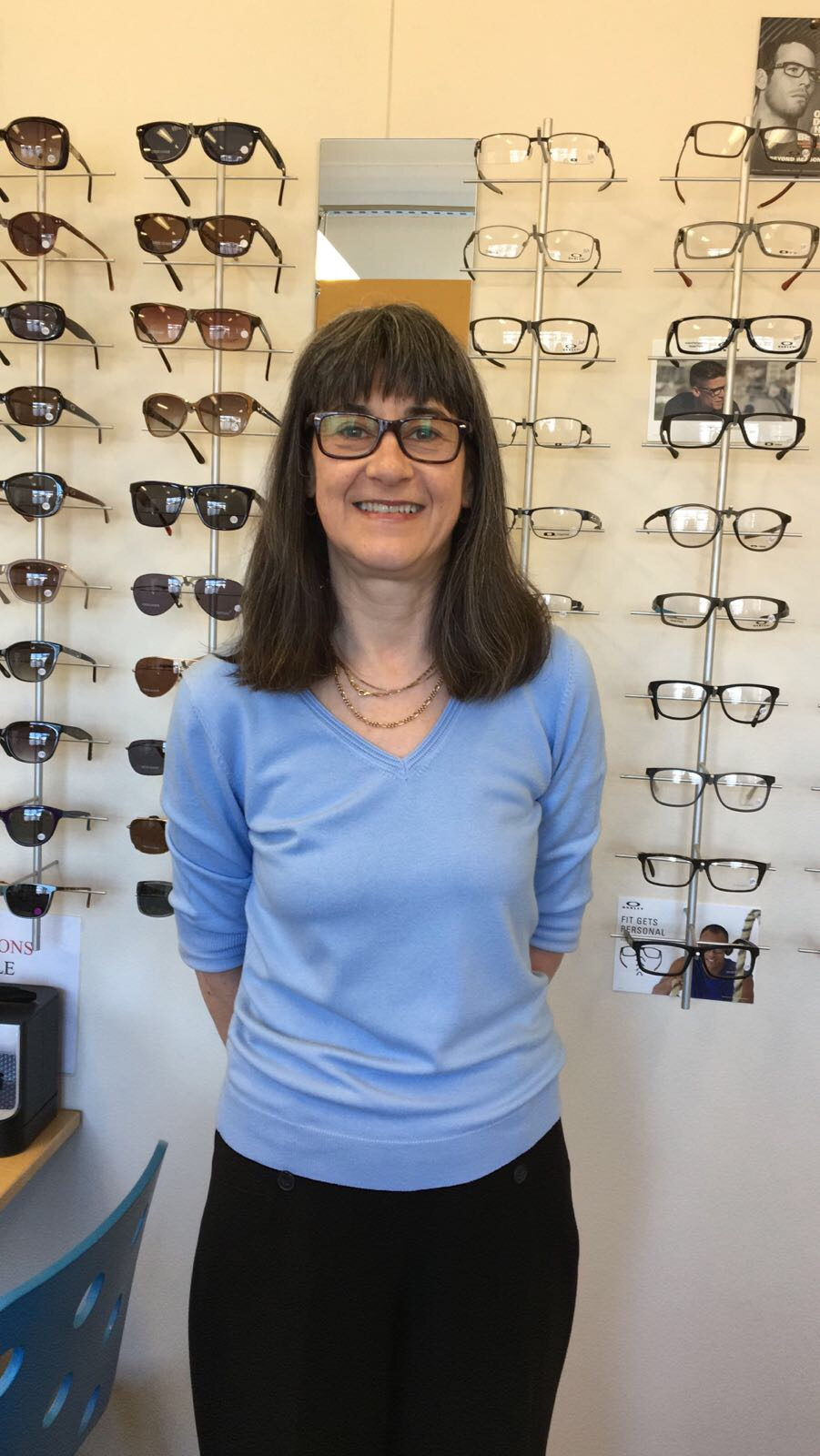 Christine   Optical Assistant   Christine is the newest member of the  SightDirect  team joining us in May 2016. Christine has worked in optics since 1989 and has a wealth of experience from working in a number of high street and independent stores around the North East.