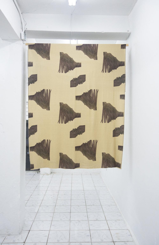 """Luis Brandelli / Estampa (Caña de Azucar) / Estampa digital sobre tejido de lino / 60"""" x 72"""""""