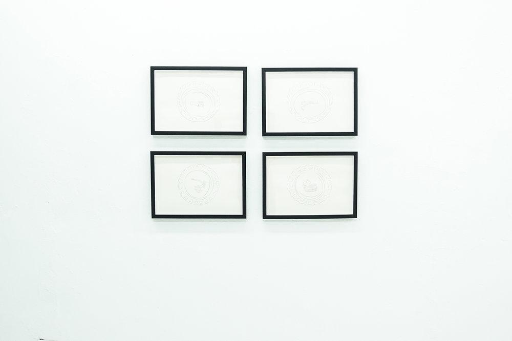 """Angel Poyón / Serie: Fuente de los deseos / Dibujo en grafito / 18""""x12.5"""""""