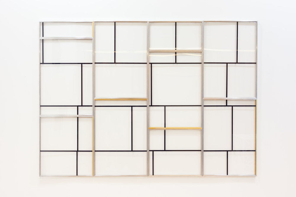 Santiato Pinyol / Visual Salami / Enamel on acrylic / 120cm x 168 cm