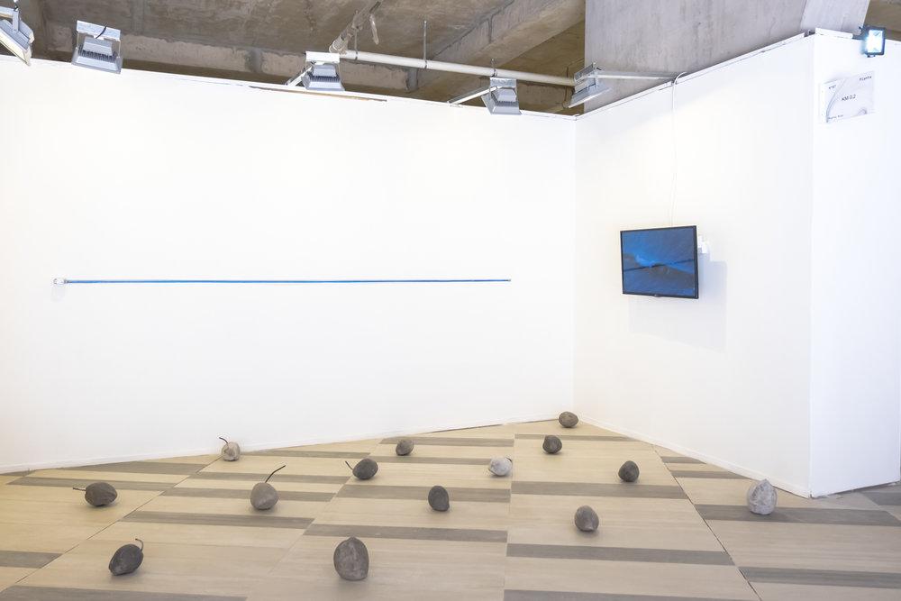 Detalles de obras de Karlo Andrei Ibarra, Sofía Gallisá Muriente & Yiyo Tirado Rivera