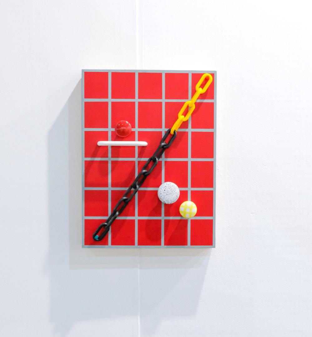 Brandon E. Cannon / Divi-divider, 2016 / Medio mixto / 40.6 x 30.4 x 4.1 cm