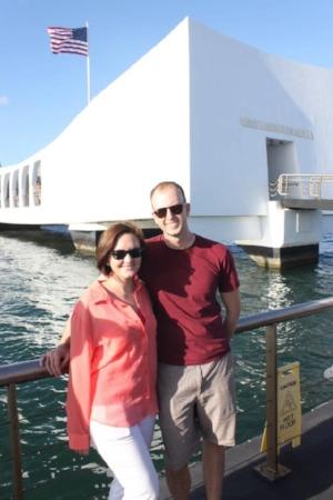 My husband and me at Pearl Harbor.