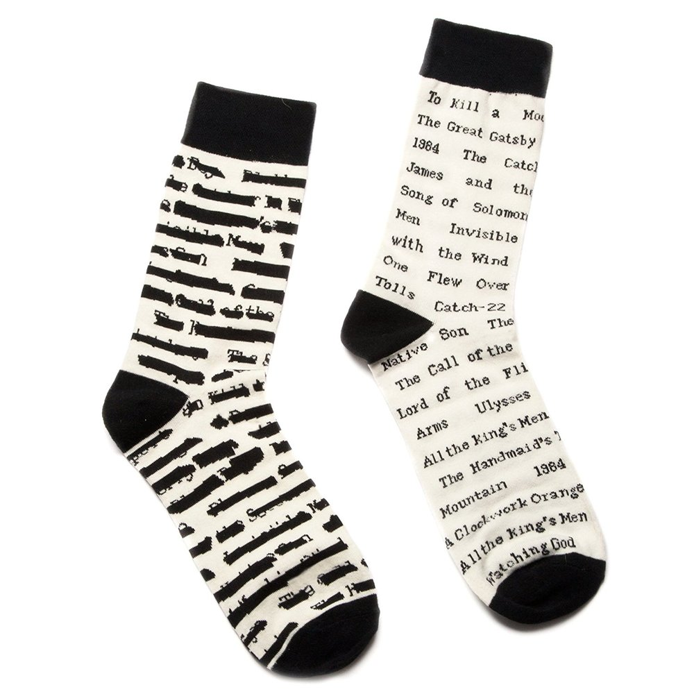 Out of Print Unisex Banned Books Socks.jpg