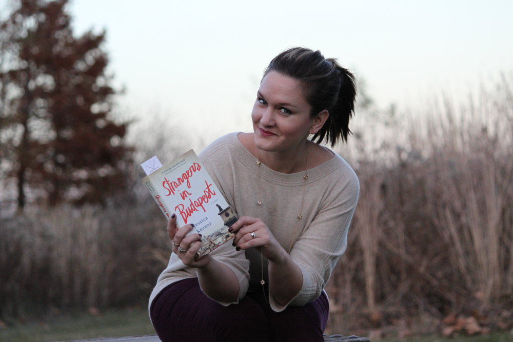 Reading Strangers in Budapest by Jessica Keener in New Town, St. Charles, Missouri