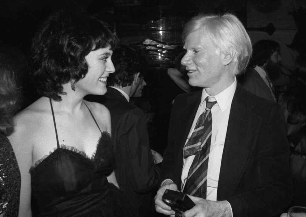 Author Interview with Natasha Fraser-Cavassoni: the author with Andy Warhol