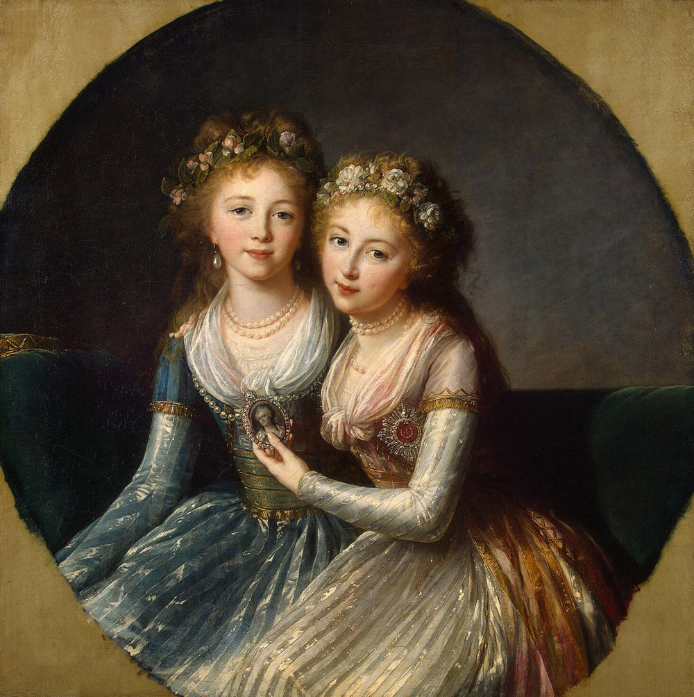 Author Interview with Susan Jaques - Portrait of Empress Catherine's granddaughters by Elisabeth Vigee Le Brun
