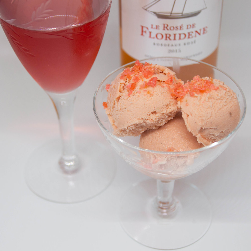 Sparkling Rosé Ice Cream - A Recipe