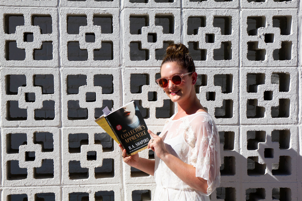 Reading The Collector's Apprentice by B.A. Shapiro at Parker Palm Springs